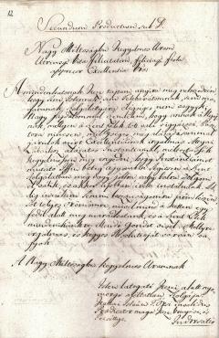 A tiszaörsi reformátusok és Eszterházy Károly levélváltása új lelkipásztor engedélyezése ügyében