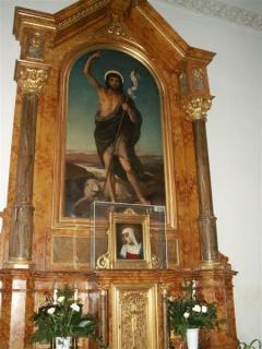 Keresztelő Szent János: oltárkép a nagycenki templom jobb oldali mellékoltár dísze