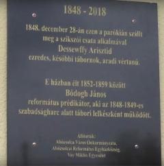1848-as emlékek az alsózsolcai parókián