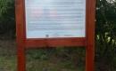 Az Ihász és Jókay családok sírkertje - ismeretterjesztő tábla