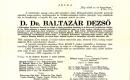 Baltazár Dezső - gyászjelentés
