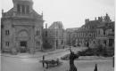A Bécsi kapu téri templom és iskola romos állapotban 1945-ben