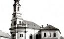 A Bécsi kapu téri új templom az evangélikus iskolával 1945 előtt