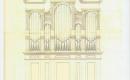 Darányi Református Templom - orgona tervrajza