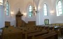 Hódmezővásárhelyi Unitárius Templom a templombelső oldalnézetben