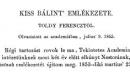Toldy Ferenc: Emlékbeszéd Kiss Bálintról 1. rész