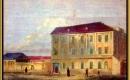 Ókollégium. Színezett metszet a Vasárnapi újságból, 1858.