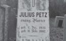 Petz Gyula síremléke