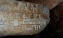 Sárszentlőrinci Evangélikus Templom - monogrammok a padokon