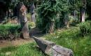 Szatmárcsekei kopjafás-csónakos fejfás református temető