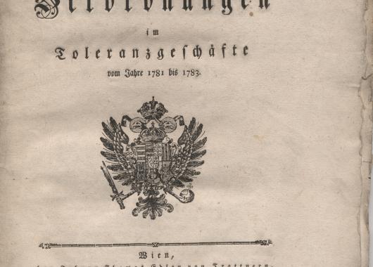 A türelmi rendelet kihirdetésének kérelme - 1782
